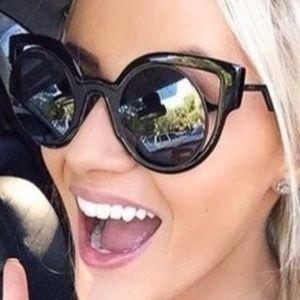 Fendi Sunglasses FF0137/S Black Semi-mirrored